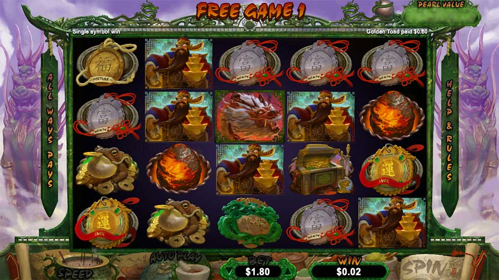 Fucanglong Slot is the Latest Game from RTG